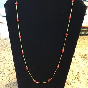 "30"" Napier Gold Chain And Bead Necklace"